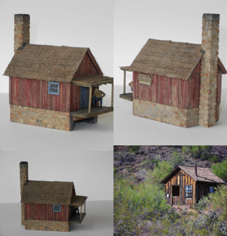 Final Pictures of the Small Miners Shack and prototype miners' cabin