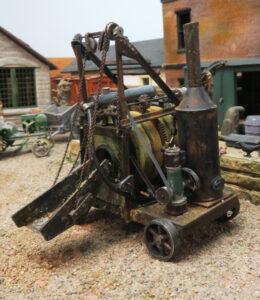 David Woodhead steam powered cement mixer